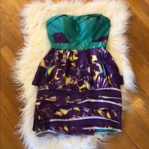 BCBGmaxazira strapless ultraviole dress!